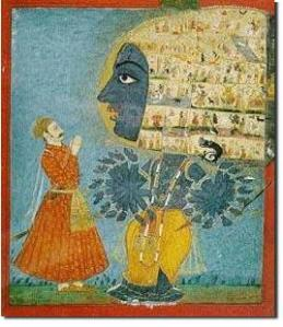 vishvarupa, cosmic form of Shri Krishna shown to Arjuna